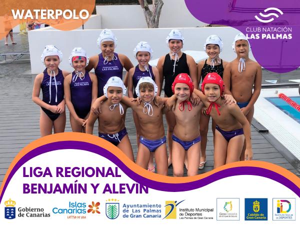 Nuestros pequeños disfrutan del comienzo de la Liga Regional Benjamín y Alevín de Waterpolo.